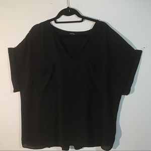 Black Blouse with pockets